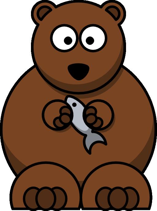 الدب الكسول والسمكة الصغيرة قصص اطفال هادفة بقلم منى حارس