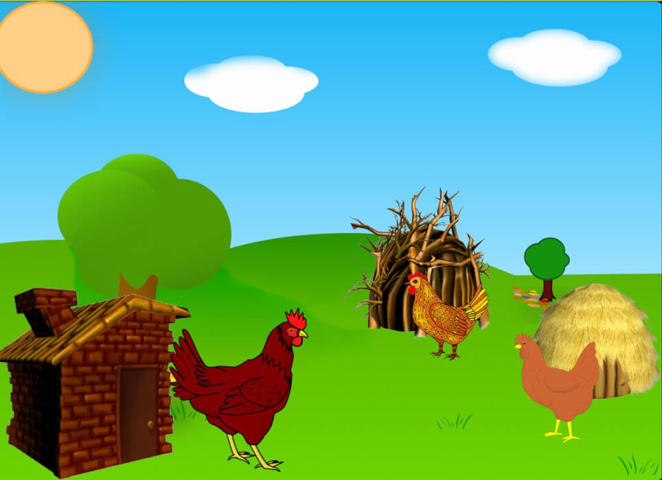 قصة الدجاجات الثلاثة الصغار
