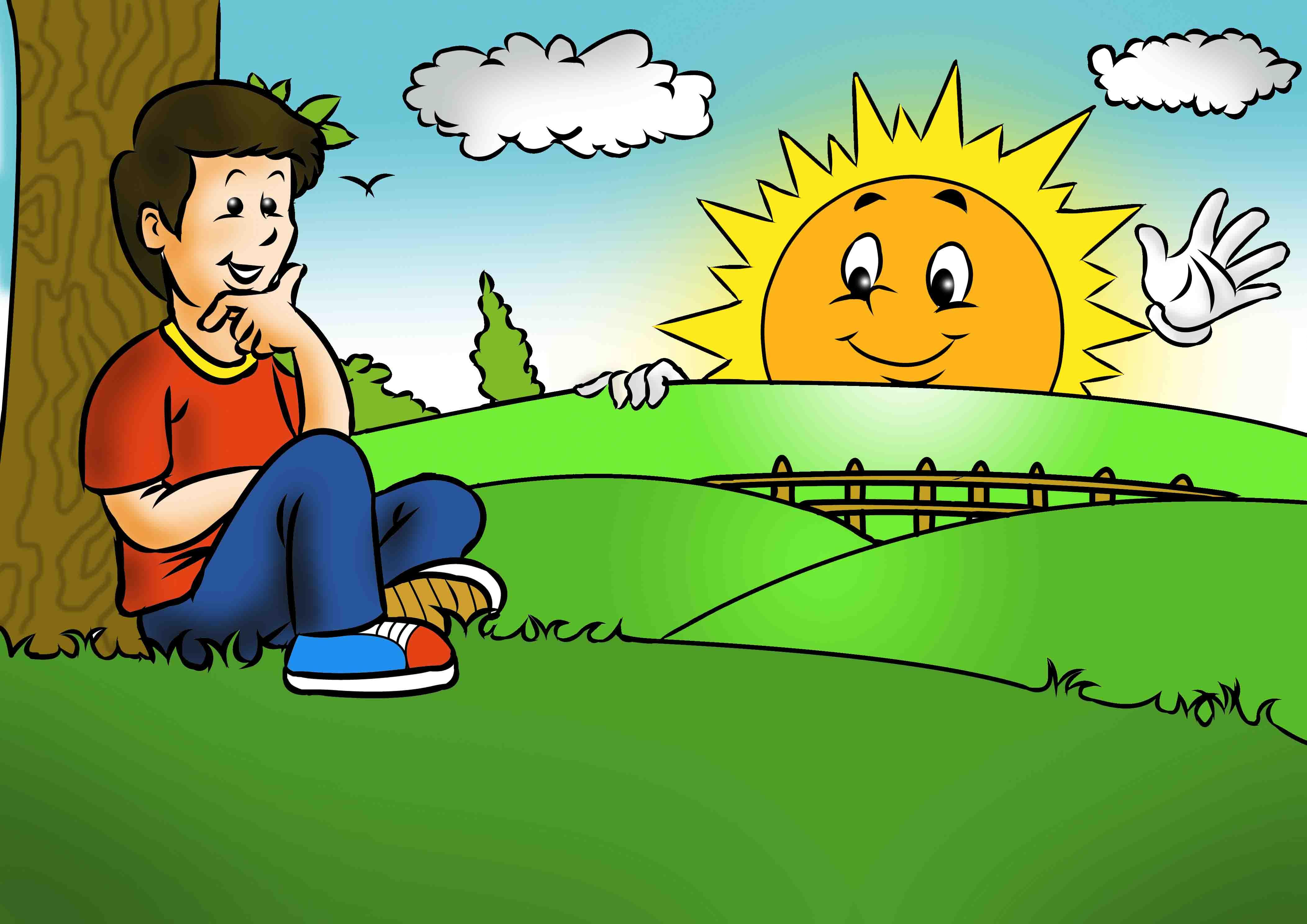 قصة الشمس قاتلة الجراثيم