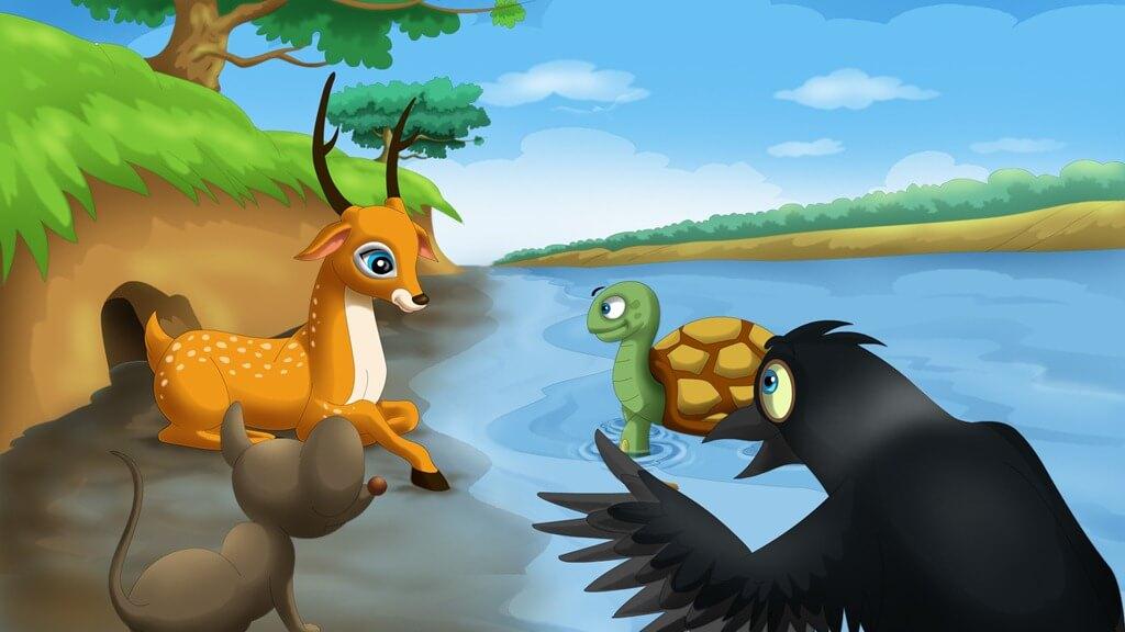 Photo of قصة الصياد والأصدقاء الأربعة