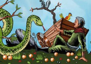 قصة الفلاح و الثعبان