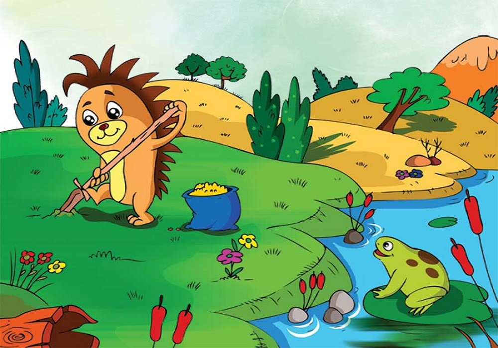 قصة القنفذ وحيوانات الغابة