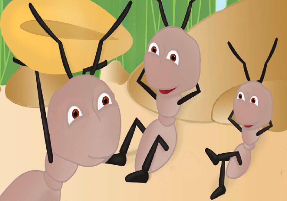 قصة النملتان الكسولتان