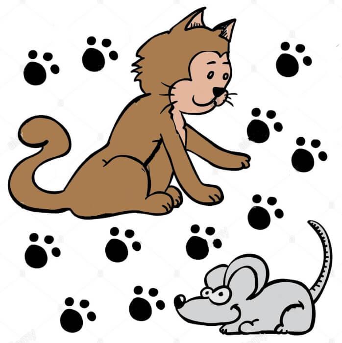 قصة رسومات الهر والفئران