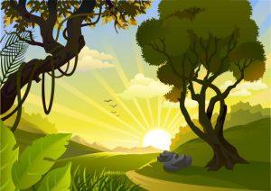 قصة صباح ربيعي جميل
