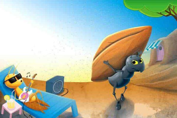 قصة النملة والجندب